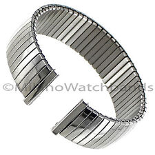 18mm Morellato Shiny Stainless Steel Twist-O-Flex Straight End Watch Band