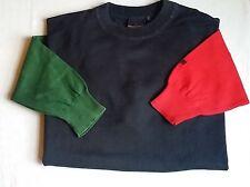 RED GREEN Pullover Strick Gr.L  BW 60 cm blau uni Baumwolle Rundhals (2)