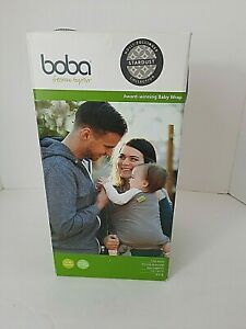 boba  Baby Wrap 0-36 Months 7-35 lbs. Gray & White Stardust NEW