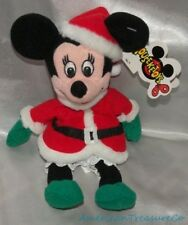 NEW 90s Disney Store Plush Beanie Holiday Santa Minnie Mouse Mrs Claus Sewn Eyes