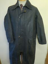 "Barbour Burghley Waxed Jacket Coat-M 40"" EURO 50 in Blue"