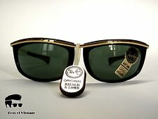 Ray-Ban Bausch & Lomb made in U.S.A. Olympian I Ebony Black Gold G-15 VINTAGE
