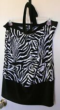 NEW!! White house...  Black and White animal print tie around neck top size XL