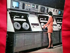 "VINTAGE ~ AVR -1 ""AUTOMATED VIDEOTAPE RECORDER"" - BROCHURE ~ RARE"