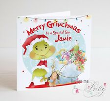 THE GRINCH Personalised Christmas Card - Son Daughter- DR Seuss - Granddaughter