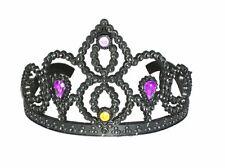 Krone Diadem Tiara schwarz Kunststoff zum Horror Kostüm