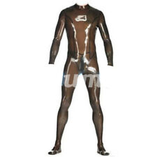 High-Quality Latex Rubber All-body Suit Bodysuit Catsuit Smoke Gray Size S-XXL
