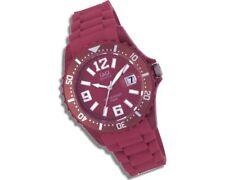 Q & Q Silikon Armbanduhr - Unisex  rot bunt Trend Sport - Datum - Damen & Herren