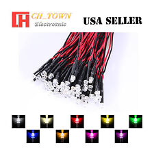 9colorsx5 45pcs 3mm Flat Top Pre Wired White Red Light Dc 9 12v Led Mix Kits