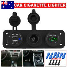 DC Dual USB Socket Charger 12v Auto Car Cigarette Lighter Power Adapter Outlet M