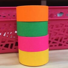 WASHI TAPE WIDE NEON BRIGHTS 4 PIECE SET 20MM X 10MTR ROLLS SCRAP PLAN CRAFT