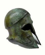 Helmet Ancient Greek Snake carved solid bronze real size great helmet artifact