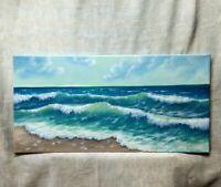 "Art10""/20""stormy,SALE ENDS 12/28 ,oil painting,seascape painting, landscape,"