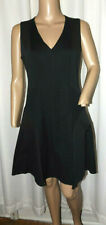 DKNYC WOMEN'S FLARED BOTTOM DRESS SIZE 4 BLACK EX COND
