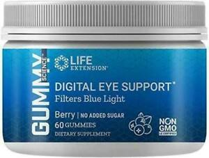 Life Extension Digital Eye Support - 60 Berry Gummies - No Added Sugar