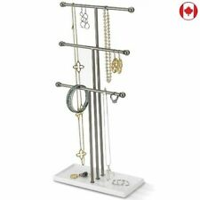 Jewelry Organizer Display Stand 3 Tier Table Top Trigem Hanging Holder