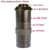NEW 8X-100X Magnification Adjustable 25mm Industry Microscope Zoom C-mount Lens