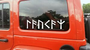 Protection in Norse Runes Vinyl Decal - Viking Futhark - Die Cut Sticker