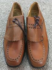 New Vintage 1960's Sears Billy Casper Genuine Leather Upper Golf Shoes, Sz 9D