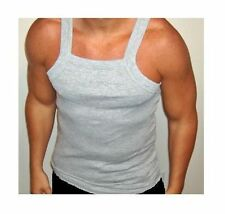 "1-Gray ""G-Unit Style!"" Tank Top Square Cut Undershirt Underwear Wife Beater 2XL"