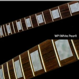 Block white silver Guitar Fret board Markers Inlay stickers