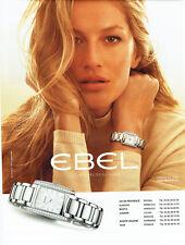 Publicité Advertising 117  2009  montre Ebel Brasilia & Gisèle Bunchen
