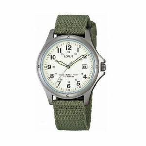 Lorus Gents Military Style Watch RXD425L8 NEW