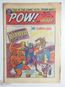 Pow! and Wham! comic No 62 - 23rd March 1968 Spider-man Fantastic Four  VG
