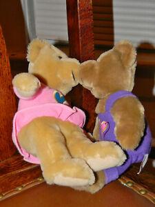 Valentine Hallmark Plush Brown Kissing Bears Stuffed Animals