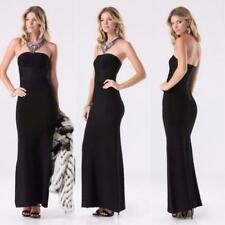 BEBE EVELINA BLACK BANDAGE STRAPLESS MAXI GOWN DRESS NEW NWT SMALL S