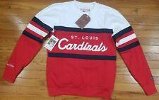 St. Louis Cardinals Mitchell & Ness MLB Men's Head Coach Crew Sweatshirt Red