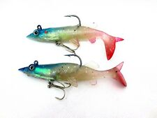 4 x  FIRE TAIL GAME COARSE SEA FISHING TACKLE JERK BAIT JELLY LURES COD LING