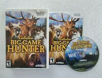 Cabela's Big Game Hunter Nintendo Wii Tested & Working Great! Complete In Box