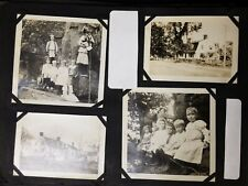 Antique 68 page Photo Album People Boats Cars Animals Historical Misc.