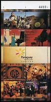 Paraguay 2016 Tourismus Musik Klavier Gemälde Orchester Music Sport Block MNH