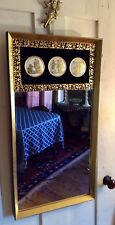 "1950s Hollywood Regency Neoclassical Mirror~B&S Creations NYC~31.25"" x 16.5""~EUC"