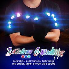 LED-Handschuhe Leichte 3 Farben 6 Modi Licht-blinkende Finger für Chrismas Party