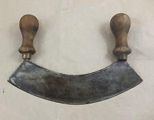 Antik tajaderas hierbas cuchillo gemarkt p&w con madera pinzamientos Antique weigh Knife