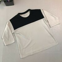 Everlane 3/4 Sleeve Lenght Black & White Cotton T-shirt/Top Size XXS