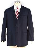 HICKEY FREEMAN Navy Blue Worsted Wool Milburn Sport Coat Suit Jacket ~ Men's 44R