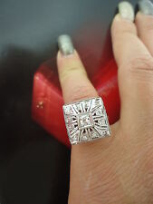 Vintage Estate  Diamond 14k Gold Cocktail Ring Fine Jewelry