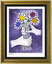 "Pablo Picasso Signed/Hand-Numbr Ltd Ed ""Bouquet of Peace"" Litho Print (unframed)"