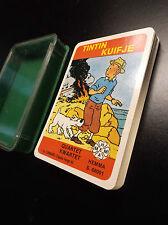Jeu de cartes Quartet Tintin Hemma 1983 ETAT NEUF sous boite en plastique