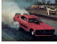 1973 DUSTER FUNNY CAR - TAYLOR & WOLFE  ~  ORIGINAL MAGAZINE POSTER / PHOTO / AD