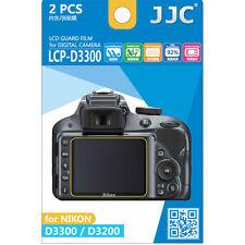 JJC LCP-D3300 Ultra hard polycarbonate LCD Film Screen Protector Nikon D3200 2PK