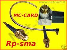 Pigtail adattatore cavetto MC-CARD : Rp-sma antenna wireless wi-fi pcmcia router