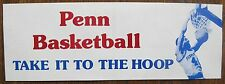 Penn Basketball Bumper Sticker circa 1960's/1970's TAKE IT TO THE HOOP