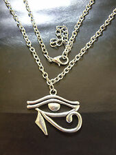 A New EGYPTIAN EYE of RA or HORUS Charm Pendant Chain Necklace Tribal, Surf