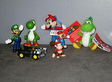 Lot  Peluches Porte-Clef Figurines de  Mario Bros/Luigi/Yoshi/Diddy Kong/Voiture