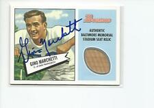 GINO MARCHETTI Autographed Signed 2001 Bowman SEAT Relic card Baltimore Colts